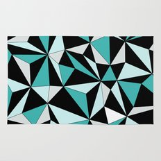 Geo - blue, gray and black. Rug