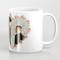 johnlock Mugs featuring Hearted Johnlock by thescudders