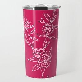 Camelias flowers Travel Mug