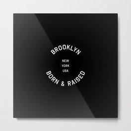 Brooklyn - NY, USA (Badge) Metal Print