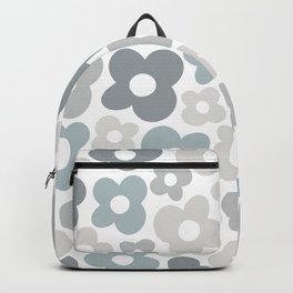 Light Gray Flower Power Backpack