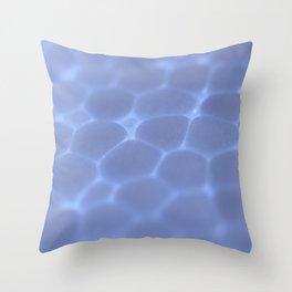 Dark Blue Foam Plastic Texture Surface Throw Pillow