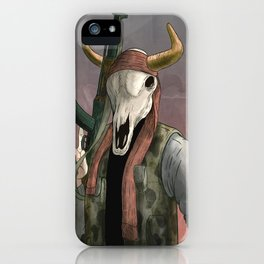 Undead Cow rebal iPhone Case