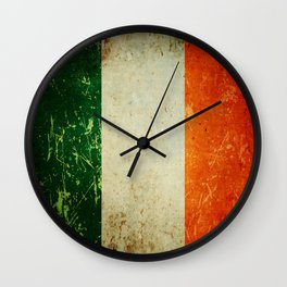 Grunge Irish Flag / Irish Tricolour Wall Clock