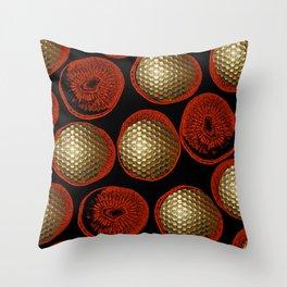 GOLD GOLF RED Throw Pillow