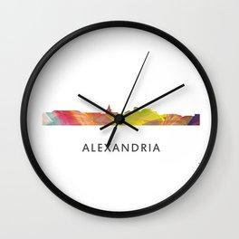 Alexandria, Virginia Skyline Wall Clock