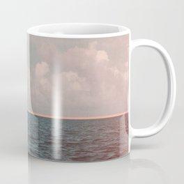 Turquoise Ocean Peach Sunset Coffee Mug
