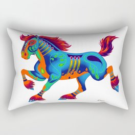Oaxacan Horse Rectangular Pillow