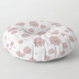 Pom Floral Pink Floor Pillow
