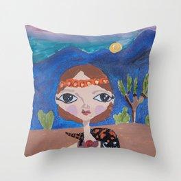 ~ Gila Monster ~ 10 Year Old Amelia's Arizona Critter Girl Throw Pillow