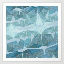 Winter geometric style - minimalist Art Print