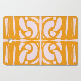 Abstract in Yellow and Cream Cutting Board