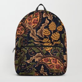 Vintage & Shabby Chic - William Morris Midnight Botanical Garden  Backpack