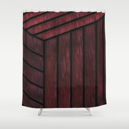 Crimson Cube Shower Curtain