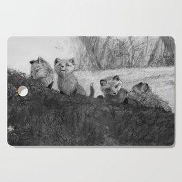 Fox Kits Sketch Cutting Board