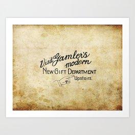Visit Gamler's Art Print