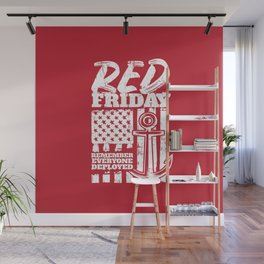 Red Friday Deployed Navy Family Wall Mural