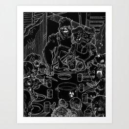 Freedom From Famine (Black & White Inverted) Art Print