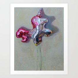 Unicorn Balloon Art Print