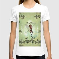 elf T-shirts featuring Christmas elf by nicky2342