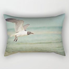 """""""The Seagull see farthest who flies highest."""" --Proverbs quote Rectangular Pillow"""