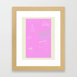 happy quince Framed Art Print