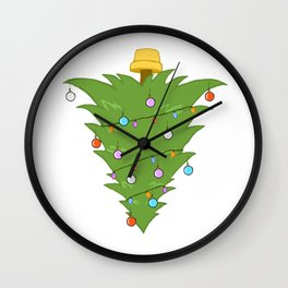 Upside Down Christmas Tree Xmas Wall Clock