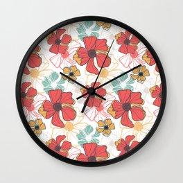 Poppy Bash 1 Wall Clock