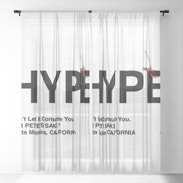 """HYPE"" Sheer Curtain"