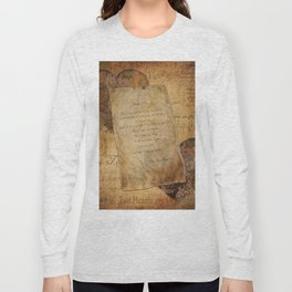 Two Hearts are One - Vintage Romantic Steampunk Art Long Sleeve T-shirt