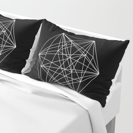 Intricate - Black And White Geometric, Conceptual Abstract by printpix