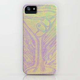 purple martini iPhone Case
