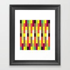 Multicolour stripes pattern Framed Art Print