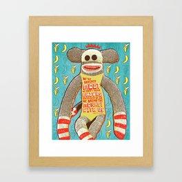 Bring the Monkey Framed Art Print