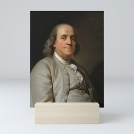 Benjamin Franklin Oil Painting Mini Art Print
