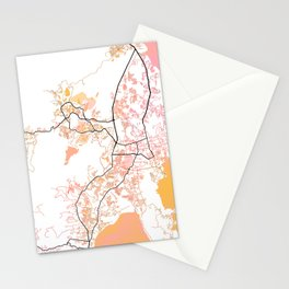 Phuket Thailand Street Map Color Stationery Cards