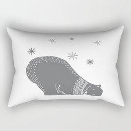 Merry christmas- Polar bear - Animal Watercolor Illustration Rectangular Pillow