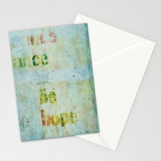 words 2 Stationery Cards