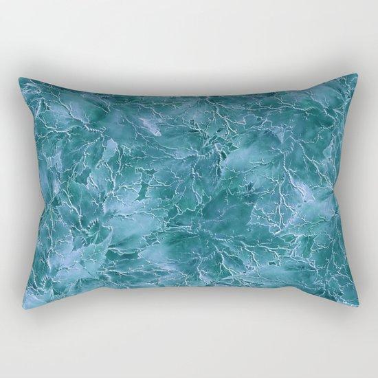 Frozen Leaves 17 Rectangular Pillow