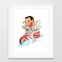 pee wee Framed Art Prints featuring Pee Wee Fink by Mutha Fudgin Deshonga