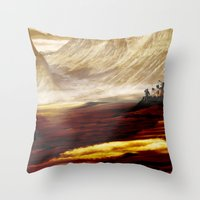 uncharted Throw Pillows featuring Planet X by coleyetter