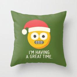 White Knuckle Christmas Throw Pillow