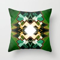 portal Throw Pillows featuring Portal by Sircasm