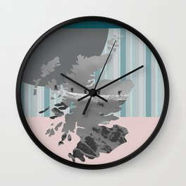 Scotland, the land of the mountains multi-coloured Wall Clock