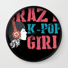 Crazy K-Pop Girl Korean Pop Music Japan Wall Clock