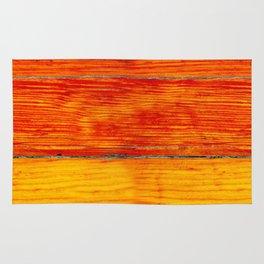 ORange wood Rug