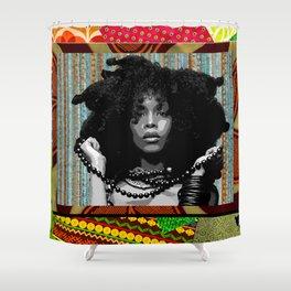 Earthy Badu Shower Curtain