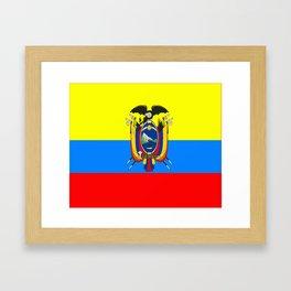 Flag of Ecuador Framed Art Print