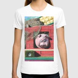Barnyard Float-Goat, Pig, & Chicken T-shirt