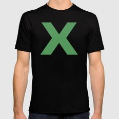 X is for... MEDIUM Black Mens Fitted Tee